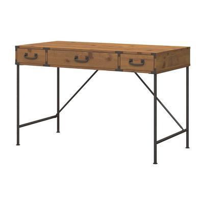 Kathy Ireland® Office by Bush Furniture KI50101-03 Ironworks 48W Writing Desk in Vintage Golden Pine