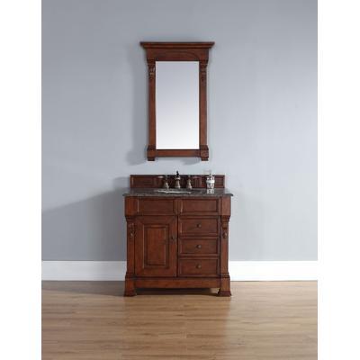 """Brookfield 36"""" Single Cabinet w/ Drawers in Warm Cherry - James Martin 147-114-5586"""