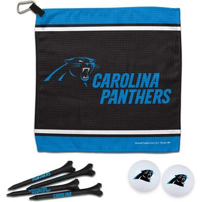 WinCraft Carolina Panthers Towel Golf Balls & Tees Gift Set