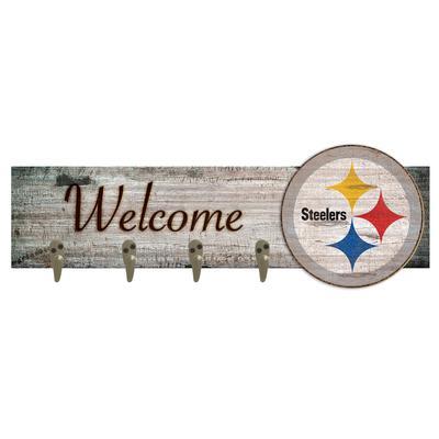 """Pittsburgh Steelers 24"""" x 6"""" Mounted Coat Hanger"""