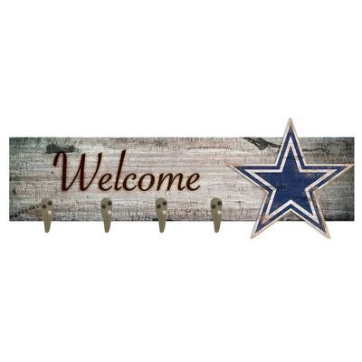 "Dallas Cowboys 24"" x 6"" Mounted Coat Hanger"