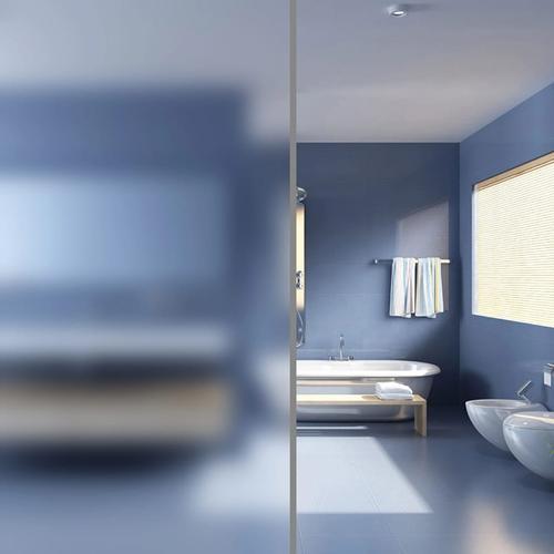 vidaXL Fensterfolie Sichtschutzfolie Milchglas Selbstklebend 0,9x100 m