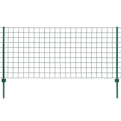 vidaXL Metallzaun Stahl 20 x 1,2 m Grün