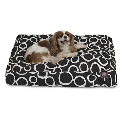 """Majestic Pet Fusion Black Rectangle Pet Bed, 44"""" L x 36"""" W, Large"""