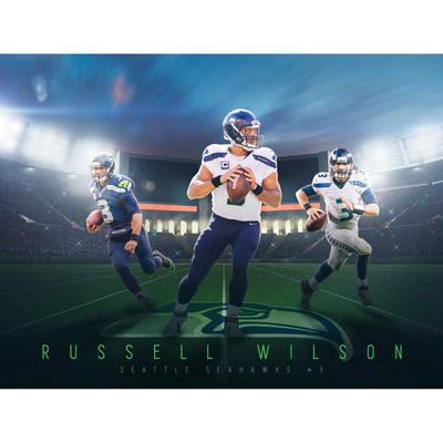 Seattle Seahawks Russell Wilson Fathead Giant Removable Wall Mural