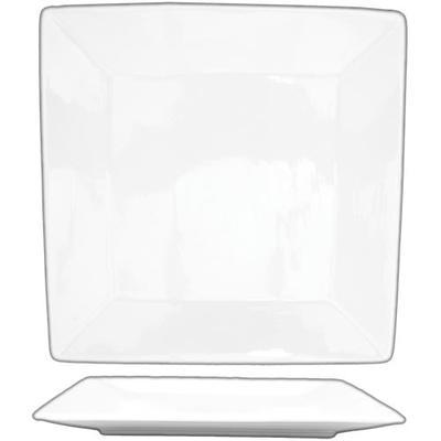 "ITI SP-10 10"" Square Slope? Plate - Porcelain, Bright White"