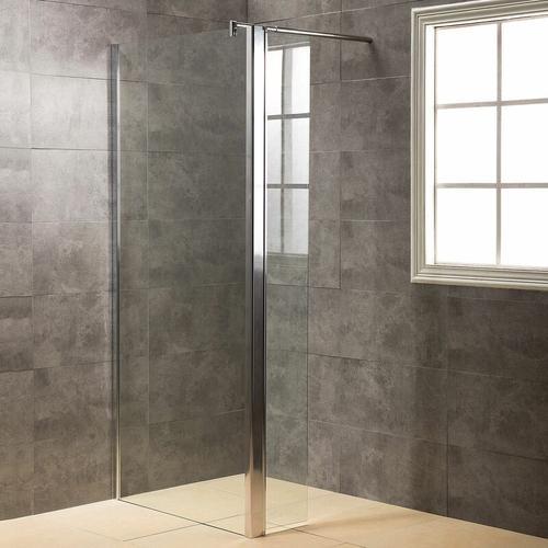 Duschwand, Duschtrennwand DWP120 - inkl. Eckpaneel (30 cm) - Duschabtrennung aus ESG
