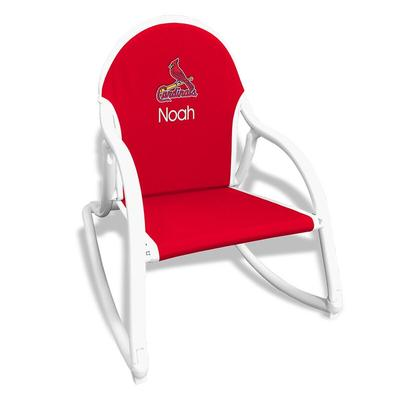 St. Louis Cardinals Children's Personalized Rocking Chair - Red