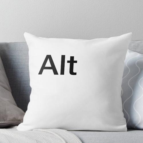 Alt Computer Keyboard Key Throw Pillow