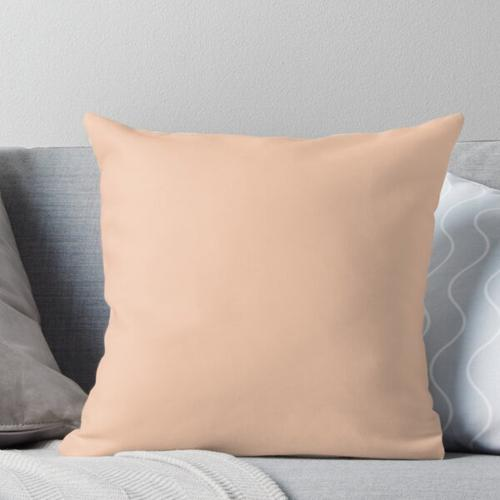 SOLID PLAIN APRICOT COLOR FOR HOME DECOR |APRICOT CLOTHING |APRICOT PHONE CASE Throw Pillow
