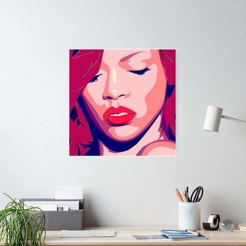 Rhianna - PopArt Poster