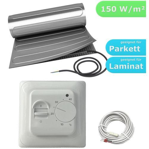 HoWaTech AL 510 Elektrische Laminat Fußbodenheizung | Set mit Heizmatte und Regler Standard: 6.00m²