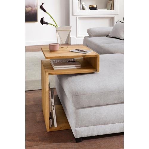 PRO Line Beistelltisch, aus Massivholz braun Beistelltische Tische Beistelltisch
