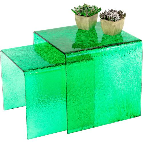 Paroli Beistelltisch, (Set, 2 St.), quadra grün Beistelltisch Beistelltische Tische