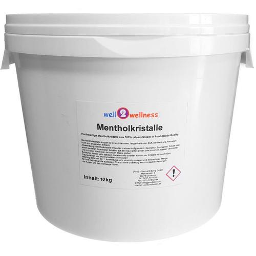 Well2wellness - Sauna Mentholkristalle 10 kg Eimer