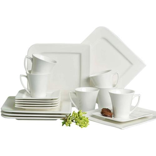 Retsch Arzberg Kaffeeservice Fantastic, (18 tlg.) beige Geschirr-Sets Geschirr, Porzellan Tischaccessoires Haushaltswaren