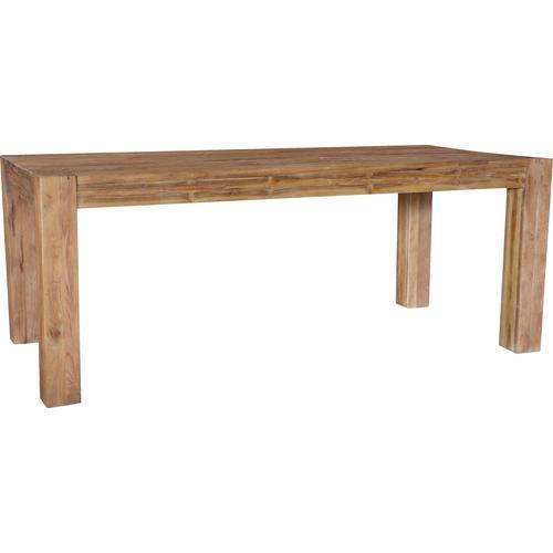 SIT Esstisch Banda, aus recyceltem Teakholz, Shabby Chic, Vintage beige Holz-Esstische Holztische Tische