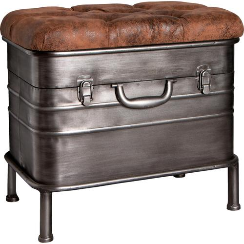 HAKU Truhenbank grau Truhenbänke Sitzbänke Stühle