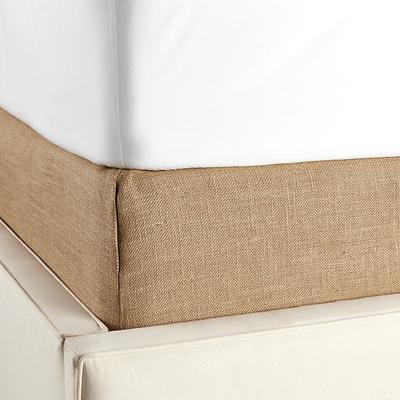 Tailored Boxspring Cover Twill Super White Full - Ballard Designs