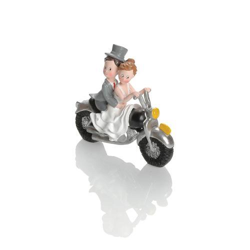 Booster Deko Figur Hochzeit Motorrad 2