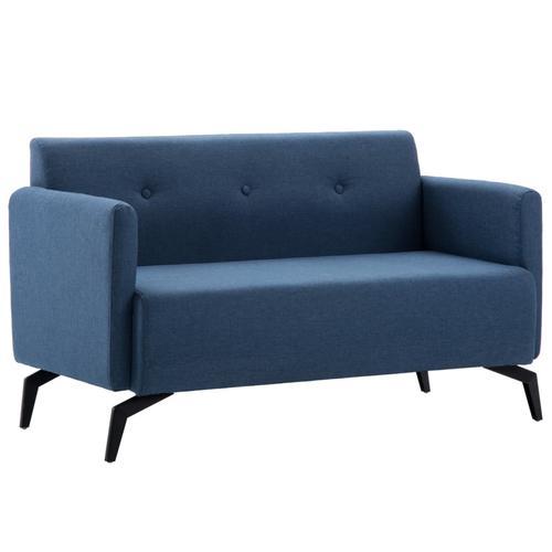 vidaXL 2-Sitzer-Sofa Stoffbezug 115 x 60 x 67 cm Blau