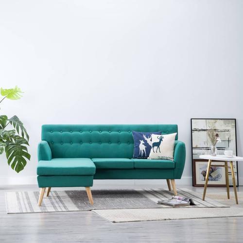 vidaXL Sofa in L-Form Stoffbezug 171,5 x 138 x 81,5 cm Grün