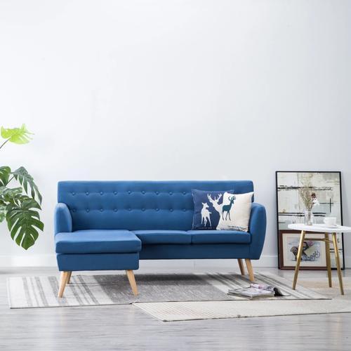 vidaXL Sofa in L-Form Stoffbezug 171,5 x 138 x 81,5 cm Blau