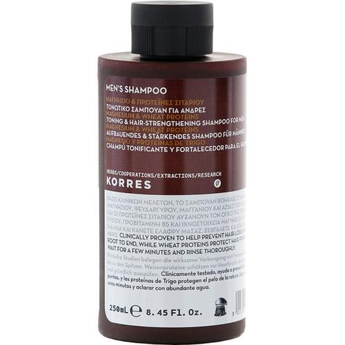 Korres Magnesium & Wheat Proteins Men's Shampoo 250 ml