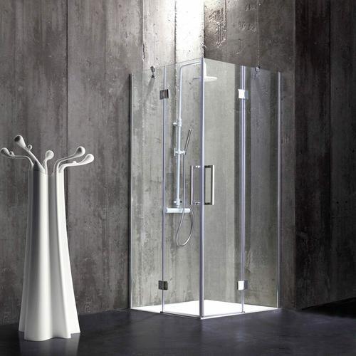 Rahmenlose Duschkabine 90 × 90 Aus 6 Mm Kristallglas London
