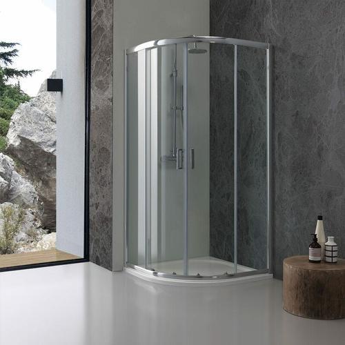 Runddusche 80 × 80 Aus Transparentem Kristallglas Giada