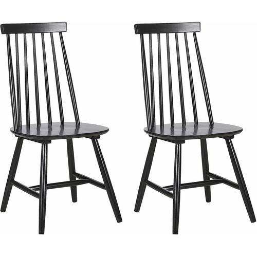 Stuhl Holz Schwarz 2er Set im Landhausstil Holzstühle