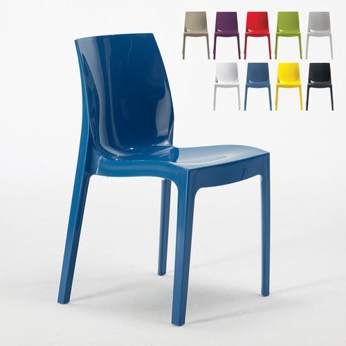 18 Stühle Küchenstuhl Esstischstuhl Esszimmerstuhl Ice Blau - Grand Soleil