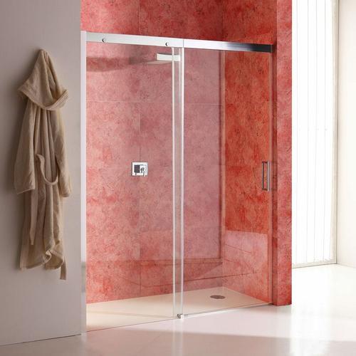 Duschtür Für Nische 140 Cm Mit Festem Element Links Aus Transparentem Kristallglas