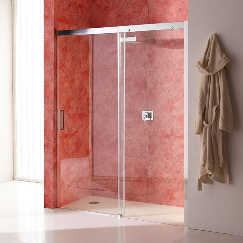 Duschtür 140 Cm Für Nische Mit Festem Element Rechts Aus Transparentem Kristallglas