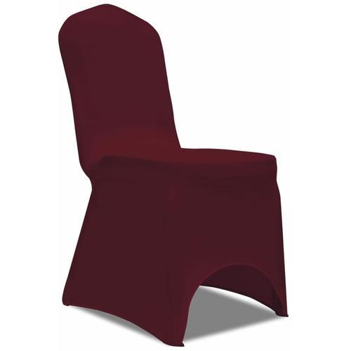 Stretch-Stuhlhussen 100 Stk. Bordeauxrot