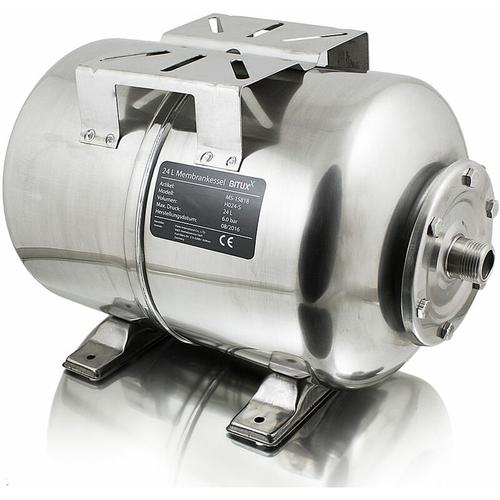 Edelstahl Membrankessel 24L Druckkessel Hauswasserwerk inkl. Membran