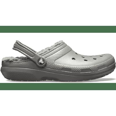Crocs Slate Grey/Smoke Classic Lined Clog Shoes