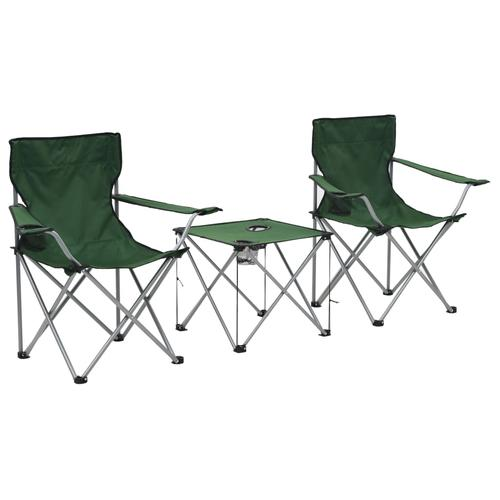 vidaXL Camping-Sitzgruppe 3 Stk. Grün