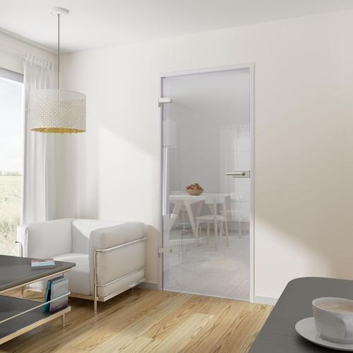 Tür Drehtür Glastür 834x1972 DIN links mit Beschlag ESG klar Wohnungstür - Tür + Beschlag DB06