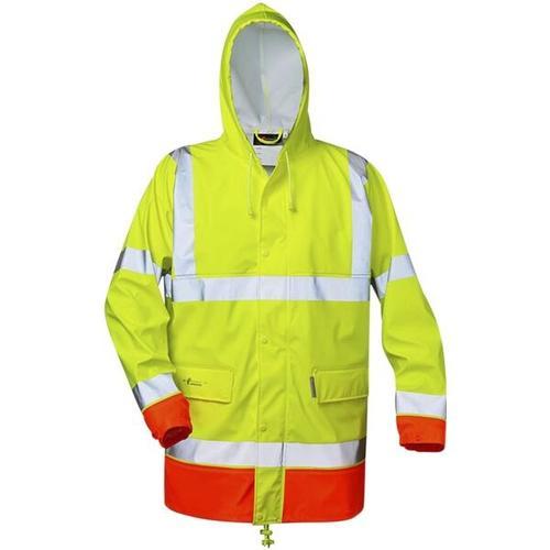 Warnschutz PU Stretch-Regenjacke »NORMAN - NORWAY« Größe XL gelb, elysee