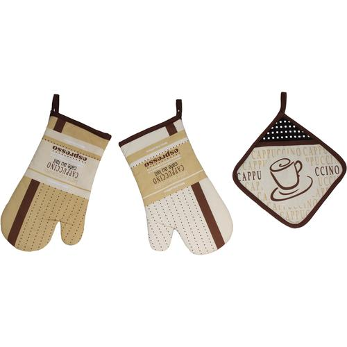 stuco Topfhandschuhe Mokka braun Topflappen und Topfhandschuh Kochen Backen Haushaltswaren