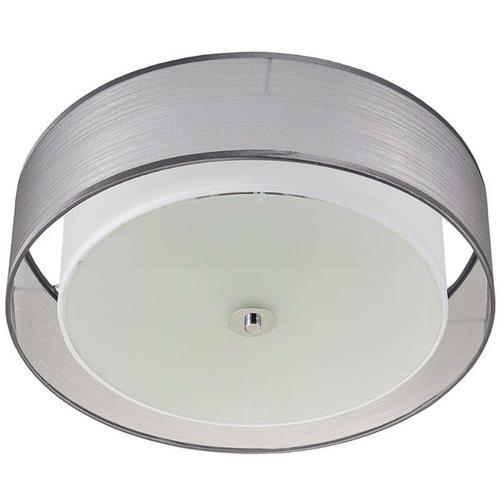 Lindby - Per Schalter dimmbare LED-Deckenlampe Tobia, grau