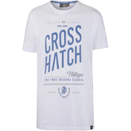 Crosshatch Fresan T-Shirt Herren in white, Größe XL