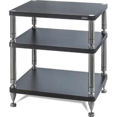 solidsteel HY-3 Audio Rack 3 Shelf- Flat Black