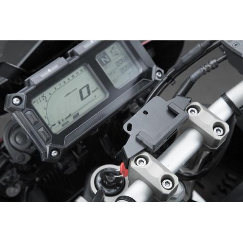 SW-Motech Navi-Halter am Lenker - Schwarz. Yamaha MT-09 Tracer/ Tracer 900GT.