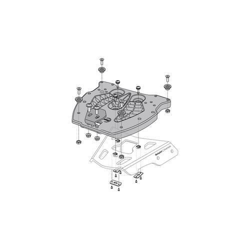 SW-Motech Adapterplatte für ALU-RACK Gepäckträger - Für TRAX Topcase. Schwarz.