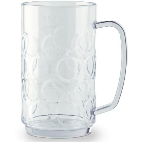 WACA Bierkrug, (Set, 4 tlg., 4), 0,5 Liter, 4-teilig farblos Biergläser Bierkrüge Gläser Glaswaren Haushaltswaren Bierkrug
