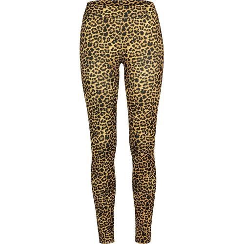 Urban Classics Ladies Leopard Leggings Damen-Leggings - leopard