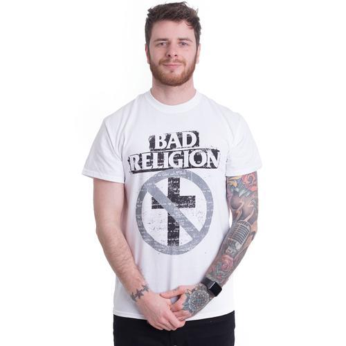 Bad Religion - Typewriter Crossbuster White - - T-Shirts