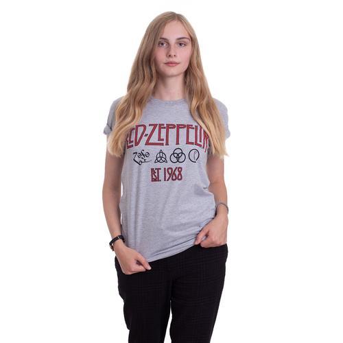 Led Zeppelin - Symbols Est 68 Grey - - T-Shirts